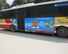 Cắt decal dán xe tải, xe buýt, xe hơi, xe khách