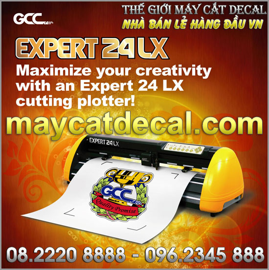 Máy GCC-Expert 24 LX - TheGioiDecal